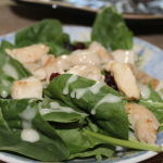 Chicken & Spinach Salad with Apple Vinaigrette